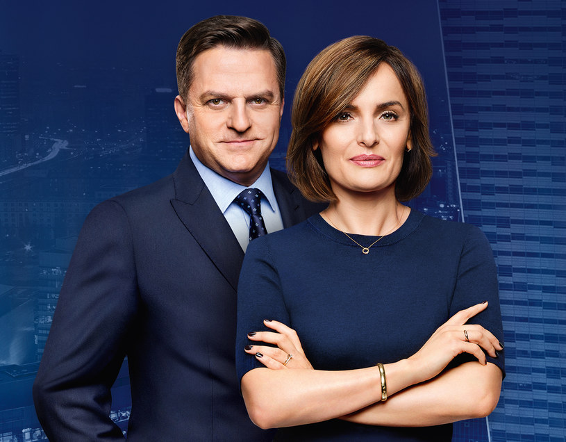 Dorota Gawryluk i Bogdan Rymanowski /Polsat News