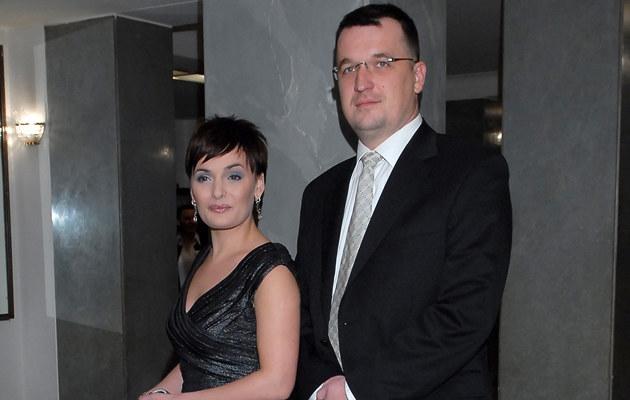 Dorota Gawryluk z mężem, fot.Andras Szilagyi  /MWMedia