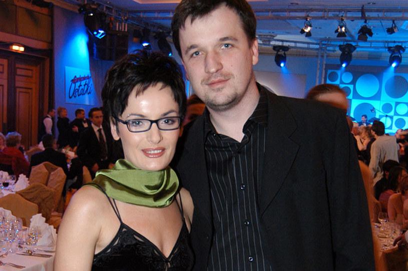 Dorota Gawryluk z mężem Jerzym w 2004 roku  /Warga /AKPA