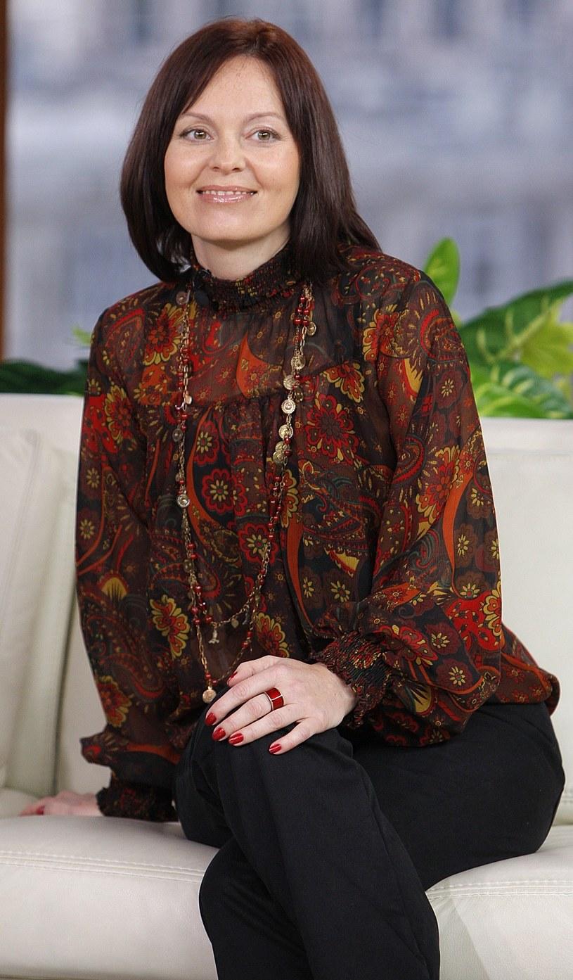Dorota Grzelak-Latos na planie programu Dzień Dobry TVN /East News/ Zeppelin
