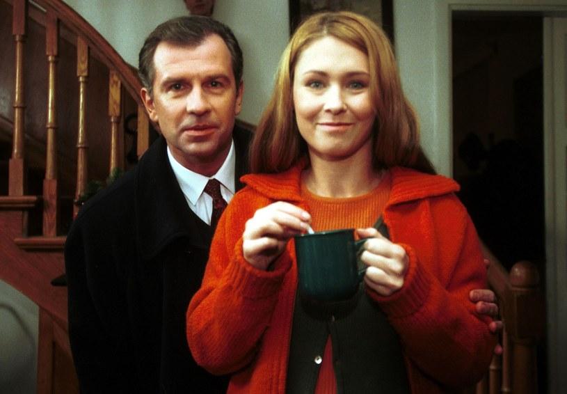 Dorota Naruszewicz i Tomasz Stockinger w 1998 roku /Piotr Liszkiewicz/ Agencja SE /East News