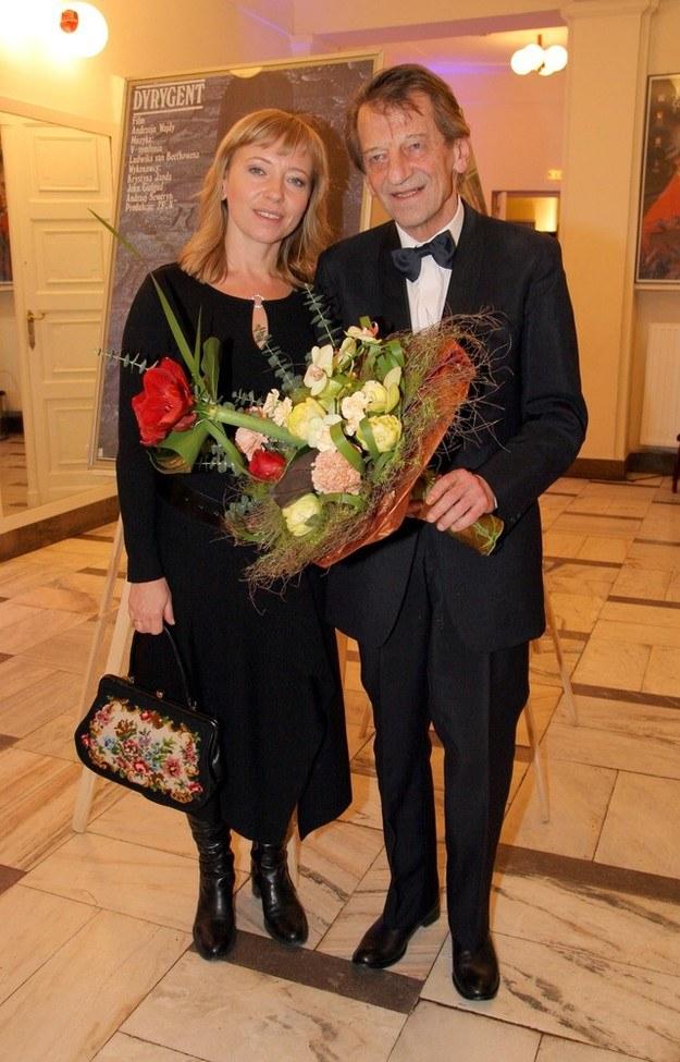 Dorota Segda i Stanisław Radwan na premierze /Damian Klamka /East News