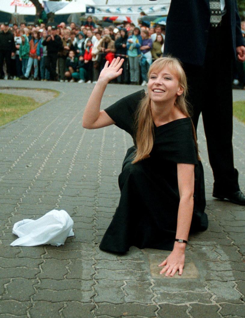 Dorota Segda na Festiwalu w Międzyzdrojach w 1998 roku /Piotr Liszkiewicz/ Agencja SE /East News