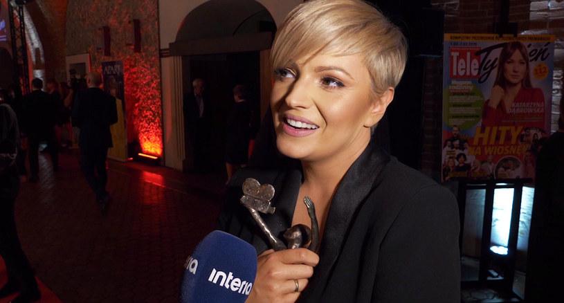 Dorota Szelągowska na Telekamerach Tele Tygodnia 2019 /INTERIA.PL