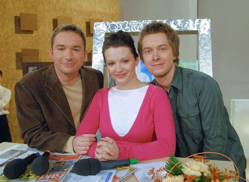 Dorota Szelągowska, Rafał Patyra, Tomasz Kin w 2006 roku /Tricolors /East News