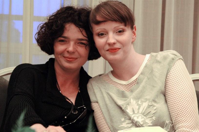 Dorota Szelągowska z mamą - Katarzyną Grocholą w 2004 roku /Tricolors /East News