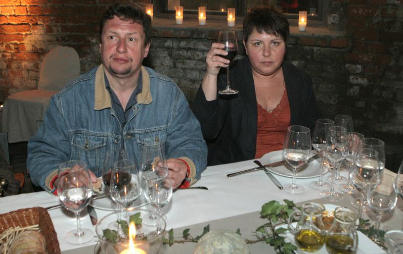 Dorota Wellman z mężem, 2006 rok /Rafał Maciąga /Agencja FORUM
