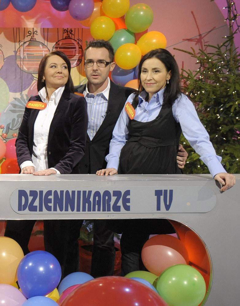 Dorota Wysocka-Schnepf z Danką Holecką i Maćkiem Kurzajewskim /AKPA