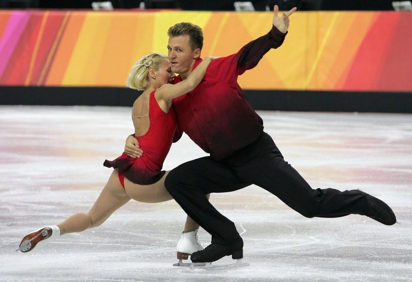 Dorota Zagórska i Mariusz Sudek podczas Zimowych Igrzysk Olimpijskich 2006 w Turynie /Getty Images