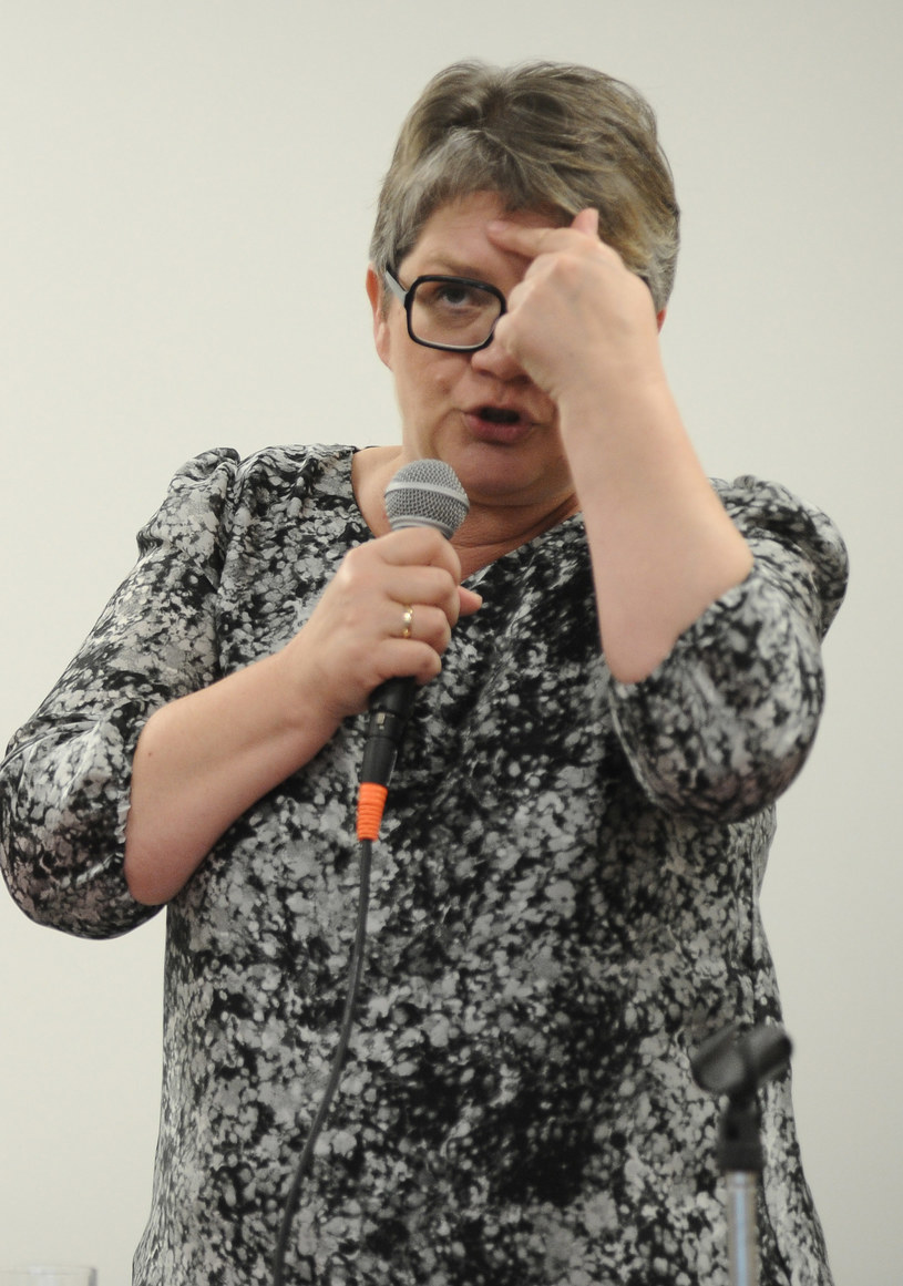 Dorota Zawadzka podczas wykładu, Studencki Centrum Kultury /Michał Grocholski /Agencja FORUM