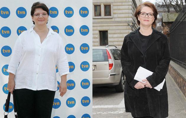 Dorota Zawadzka przed i po kuracji odchudzającej  /MWMedia