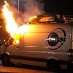 Dotkliwe kary za spalenie wozu transmisyjnego telewizji TVN