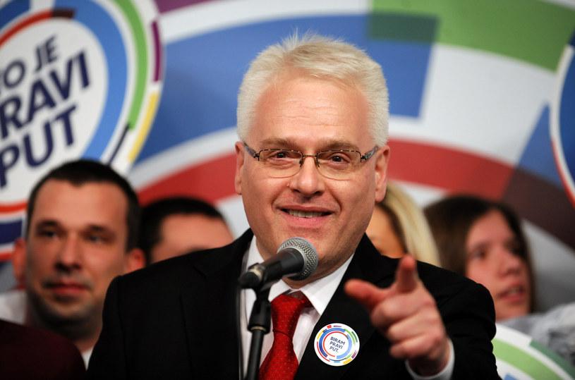 Dotychczasowy prezydent Ivo Josipović /AFP