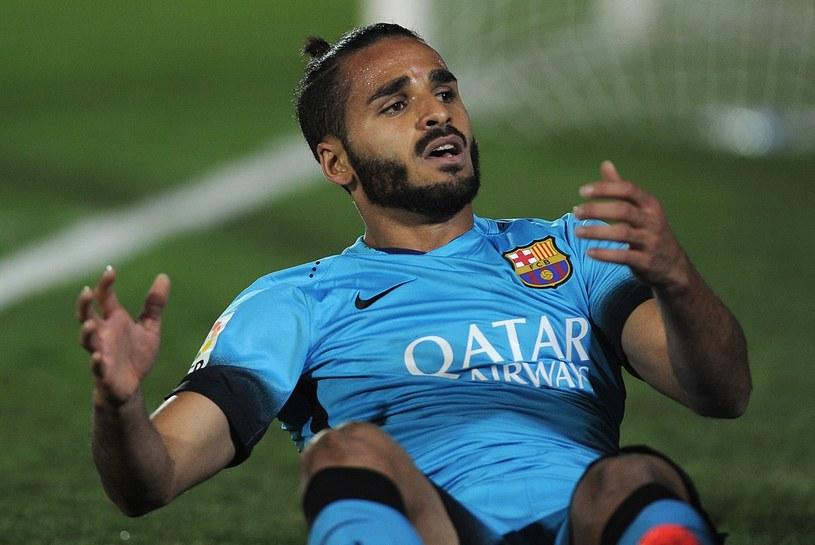 Douglas podczas spotkania Copa del Rey z Villanovense /AFP