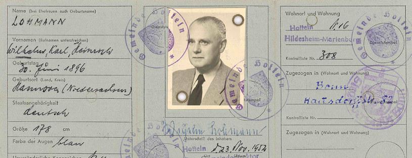 Dowód osobisty Koppego wydany na nazwisko Lohmann, fot. LAV NRW R, Gerichte Rep. 195. Nr. 78: S. 103 /Deutsche Welle