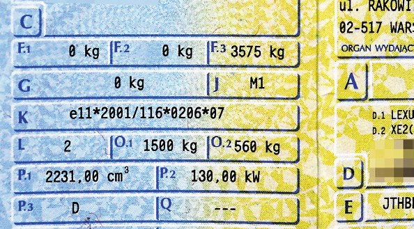 dowód rejestracyjny /Motor