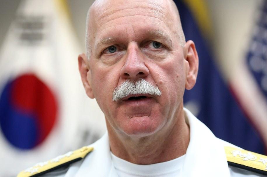 Dowódca amerykańskiej Floty Pacyfiku adm. Scott Swift /YONHAP   /PAP/EPA