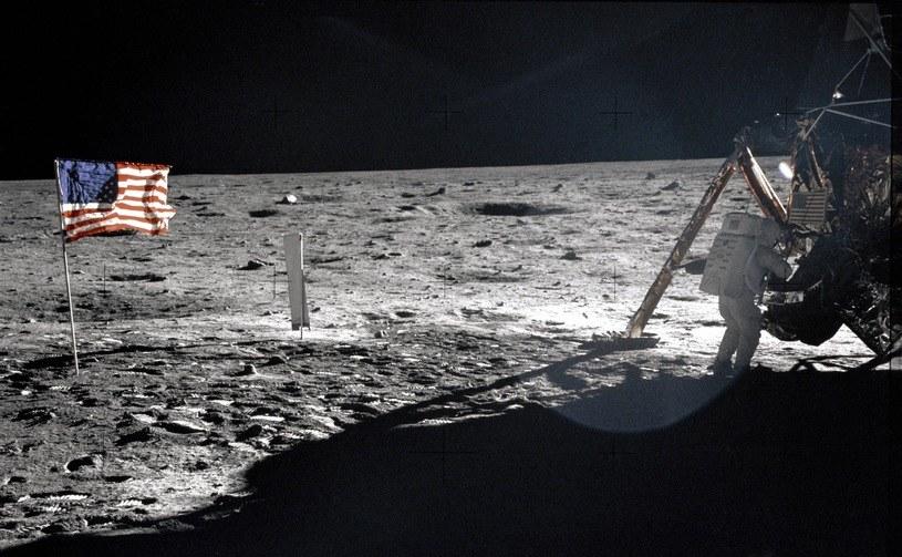 Dowódca Apollo 11, Neil Armstrong na Księżycu /NASA