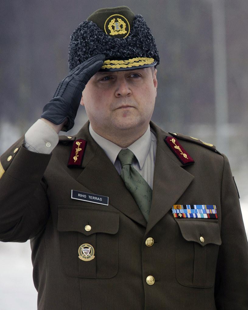 Dowódca sił obrony Estonii gen. Riho Terras /RAIGO PAJULA /AFP