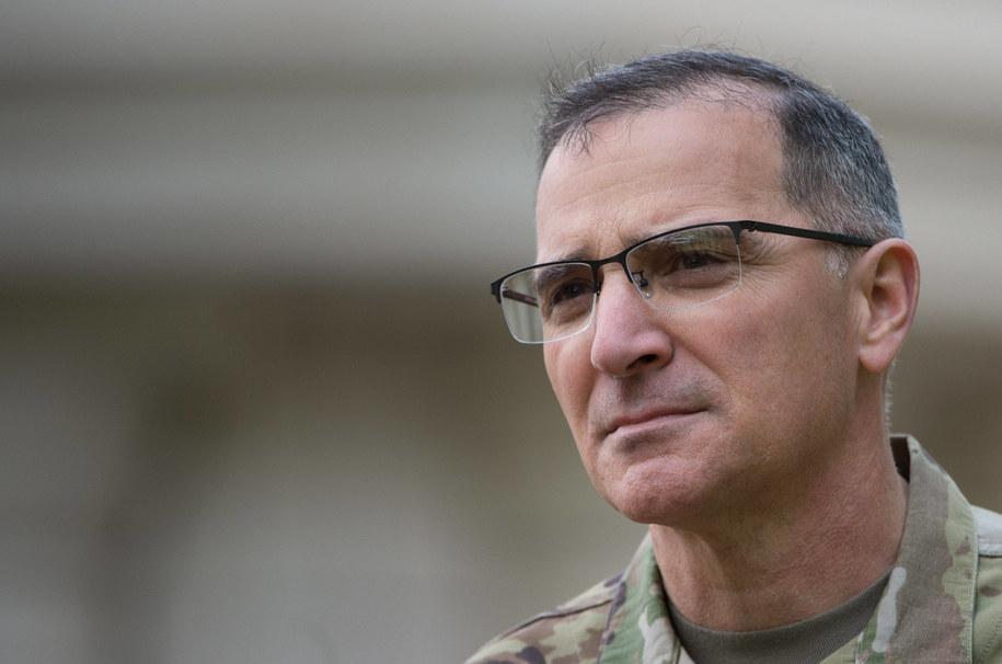 Dowódca wojsk NATO w Europie generał Curtis Scaparrotti /Marijan Murat    /PAP/EPA