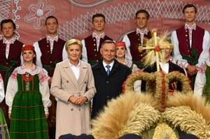 Dożynki. Prezydent Andrzej Duda dziękuje rolnikom i składa deklarację