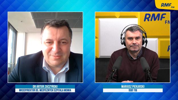 Dr Artur Zaczyński i Mariusz Piekarski /Karolina Bereza /RMF FM
