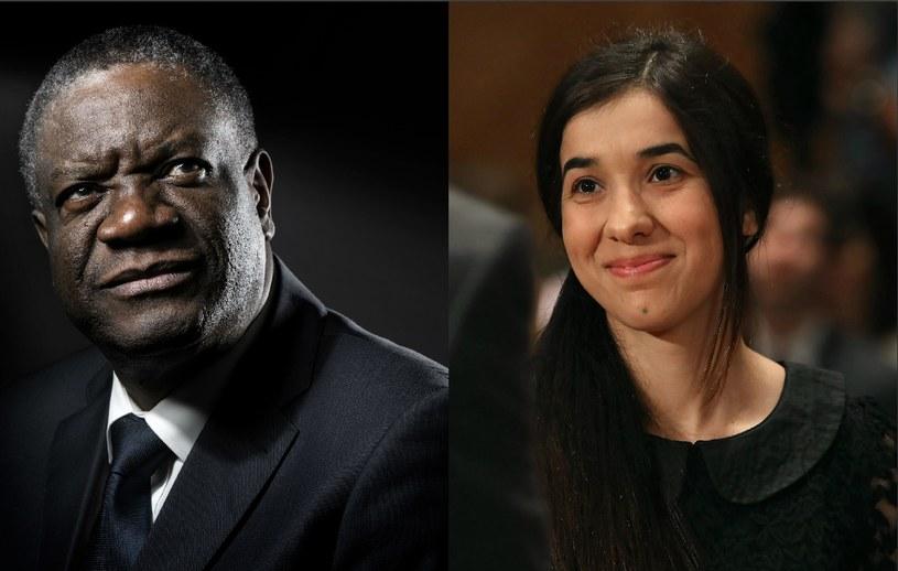 Dr Denis Mukwege i Nadia Murad /AFP