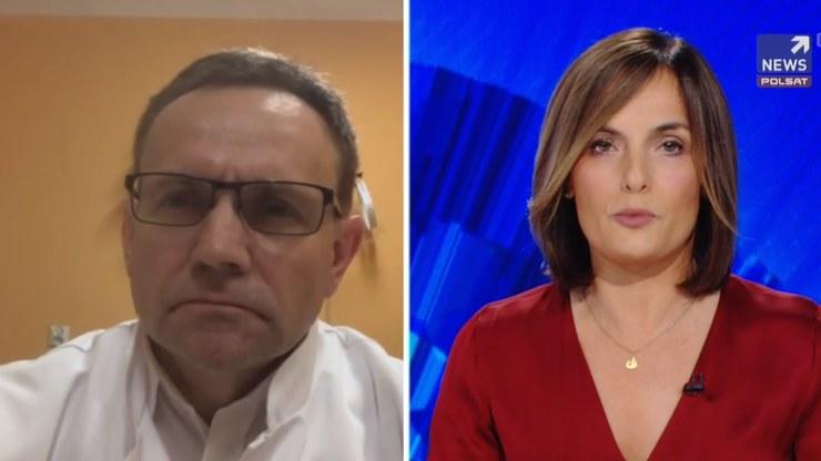 """Dr Grzegorz Dziekan w programie """"Gość Wydarzeń"""" /Polsat News"""