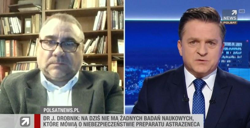 """Dr Jarosław Drobnik w """"Gościu Wydarzeń"""" w Polsat News /Polsat News"""