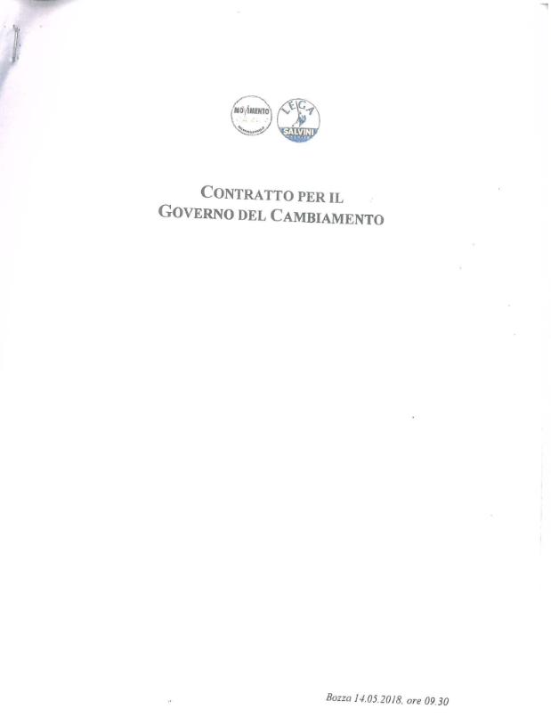Draft umowy koalicyjnej /huffingtonpost.it /
