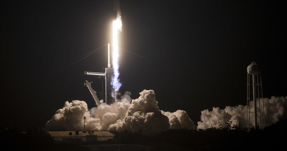Dragon 2 został wyniesiony w kosmos w niedzielę przez rakietę wielokrotnego użytku Falcon 9 /Aubrey Gemignani / HANDOUT /PAP/EPA