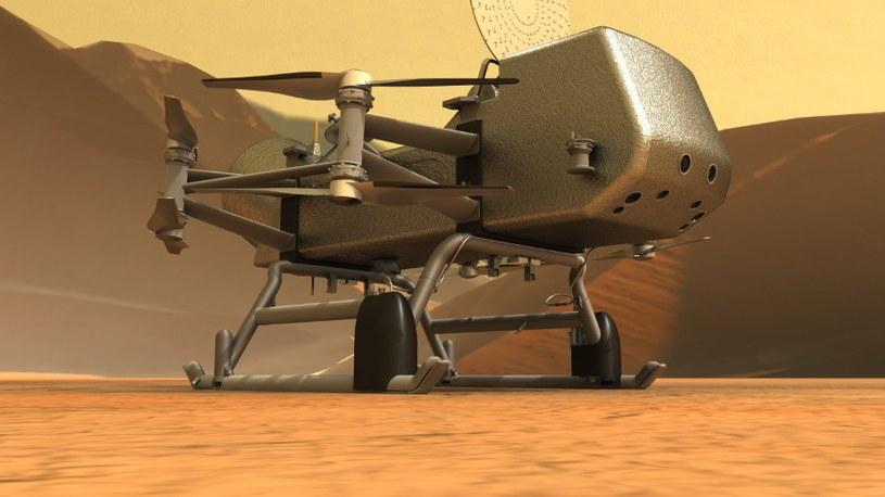 Dragonfly na powierzchni Tytana / Fot: Johns Hopkins APL /materiały prasowe