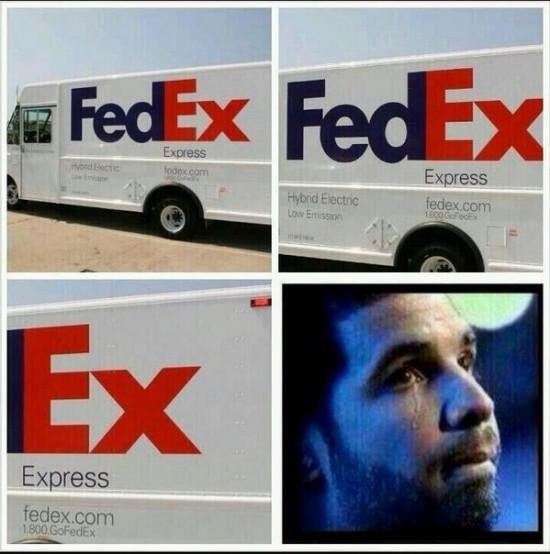 Drake'owi według internautów wszystko przypomina jego byłe - fot. Twitter /