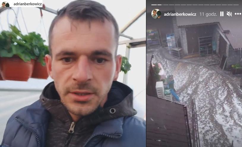 """Dramat Adriana z """"Rolnika"""". Burza zniszczyła wszystko   /https://www.instagram.com/adrianberkowicz/ /Instagram"""