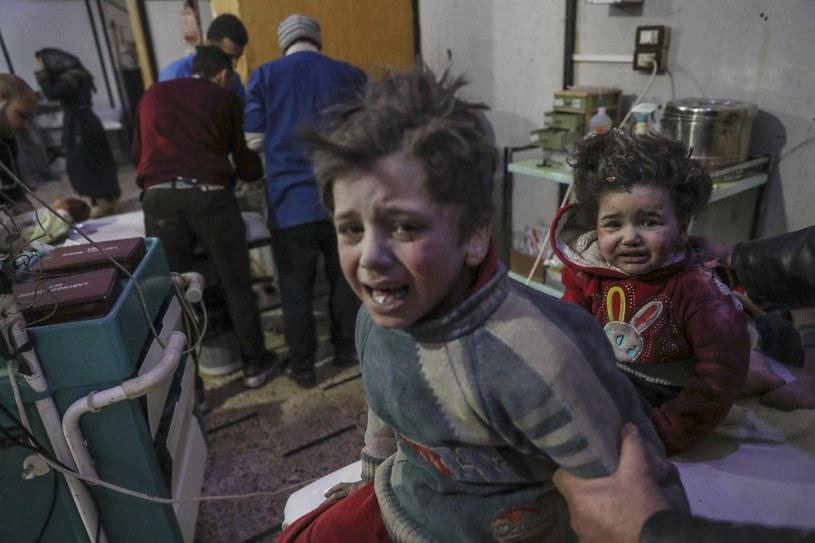 Dramat Syryjczyków w Gucie /MOHAMMED BADRA /PAP/EPA