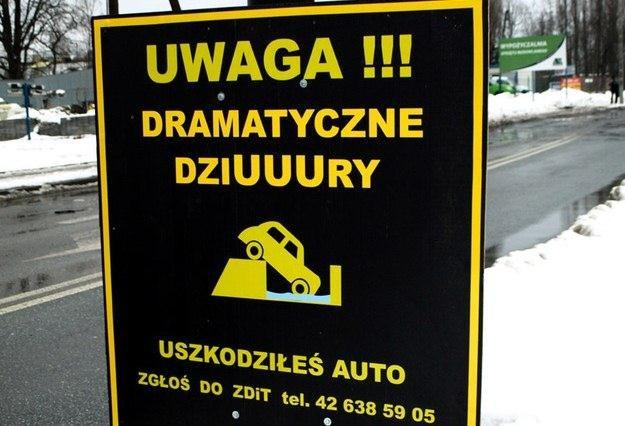 Dramatyczne dziury... Fot: / Gorąca Linia RMF /