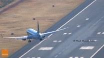 Dramatyczne lądowanie samolotu na lotnisku na Maderze