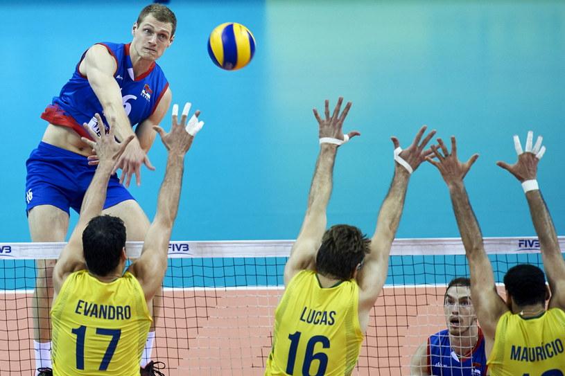 Drażen Luburić w meczu z Brazylią /www.fivb.org