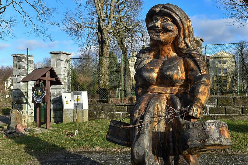 Drewniana figura przedstawiająca kaszubskiego ducha borów i opiekuna leśnej zwierzyny. Borowa Ciotka została ustawiona w Smażynie, jako jedna z 13 rzeźb szlaku turystycznego Poczuj kaszubskiego ducha. W wyniku protestów jedna z rzeźb została usunięta.