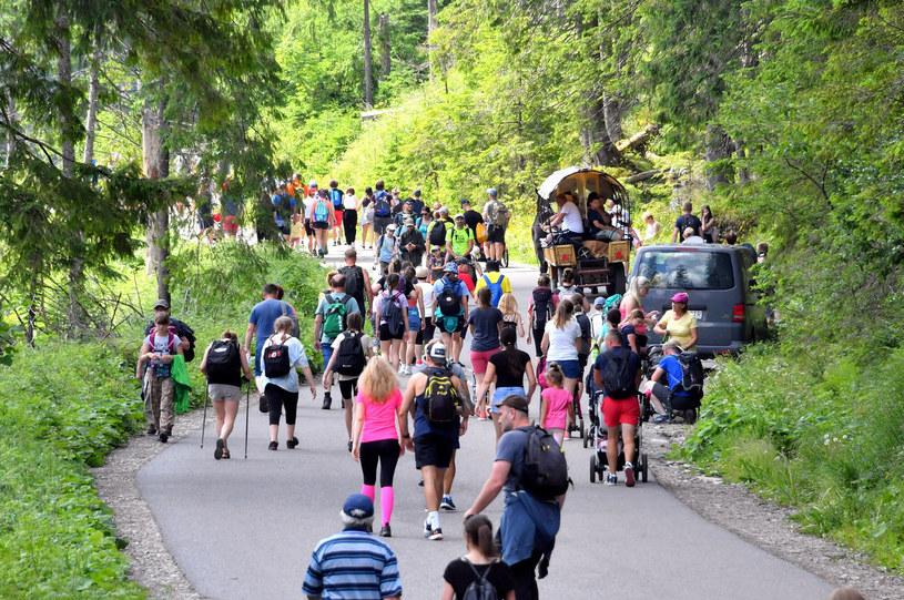 Droga do Morskiego Oka jest jedną z najczęściej wybieranych tras turystycznych w Tatrach /Pawel Murzyn/East News /East News