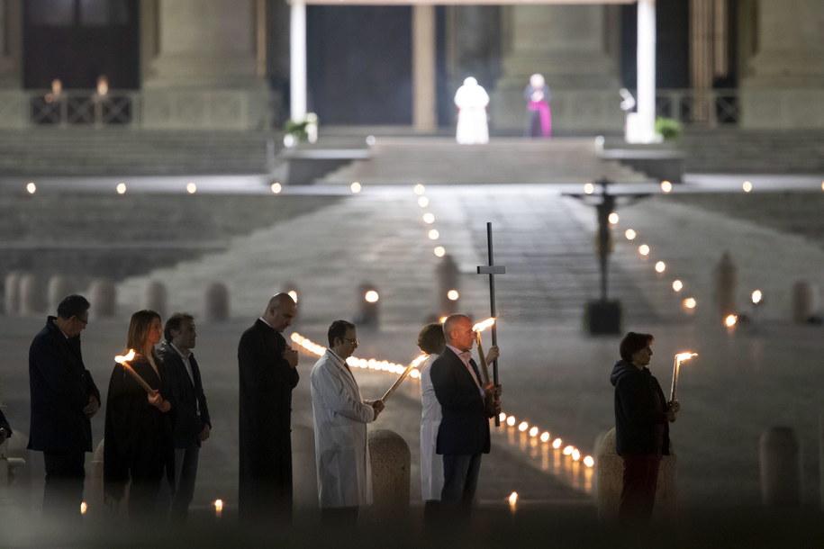 Droga Krzyżowa w Watykanie /VATICAN MEDIA HANDOUT /PAP/EPA