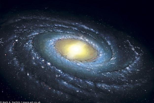 Droga Mleczna - wizualizacja /NASA