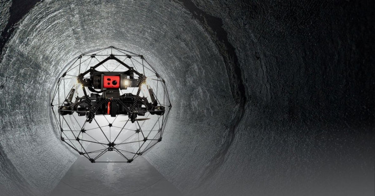 Dron użyty do inspekcji w Czarnobylu /materiały prasowe