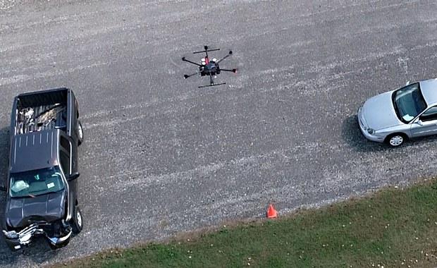 Drony pomogą policji. I kierowcom...