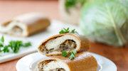 Drożdżowy kulebiak z pieczarkami