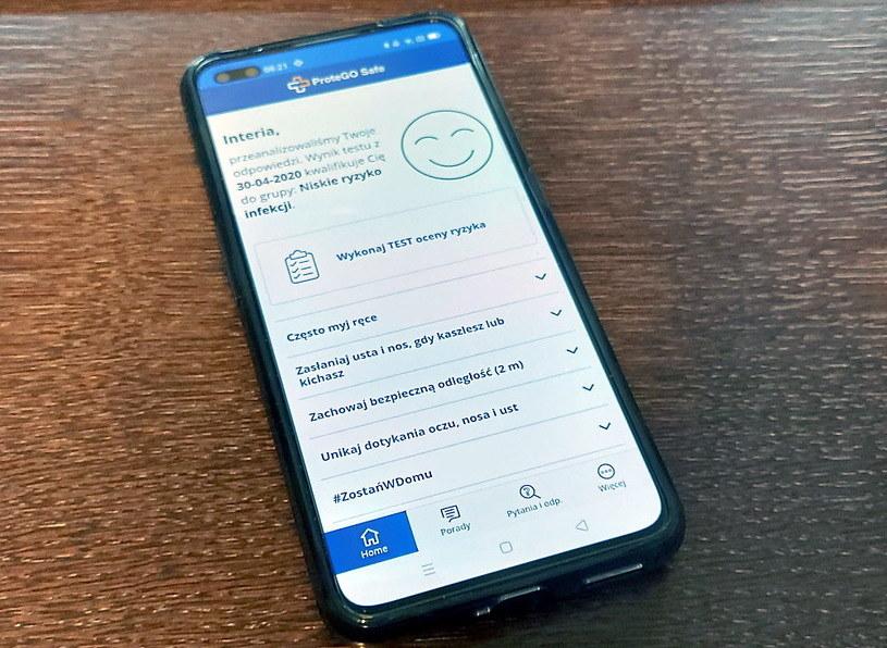 Drugą funkcją aplikacji jest możliwość stałego kontrolowania stanu zdrowia /INTERIA.PL