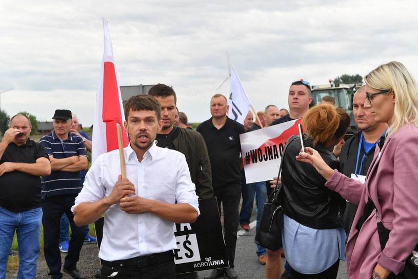 Drugi dzień protestu działaczy AGROunii w Rękoraju /Grzegorz Michałowski   /PAP