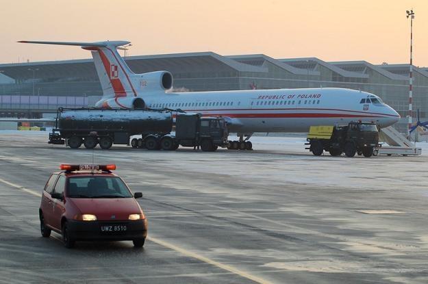 Drugi rządowy samolot Tu-154M, który niedawno powrócił po remoncie, fot. J. Waszkiewicz /Reporter
