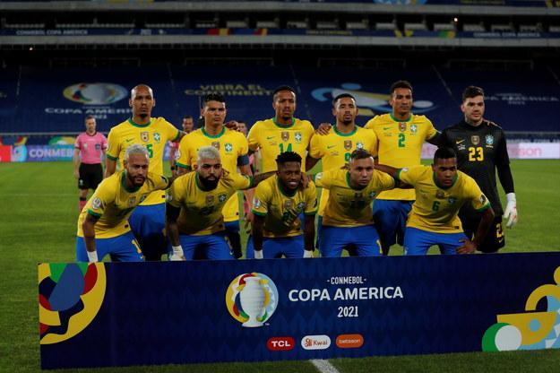 Drużyna Brazylii na Copa America /Antonio Lacerda /PAP/EPA