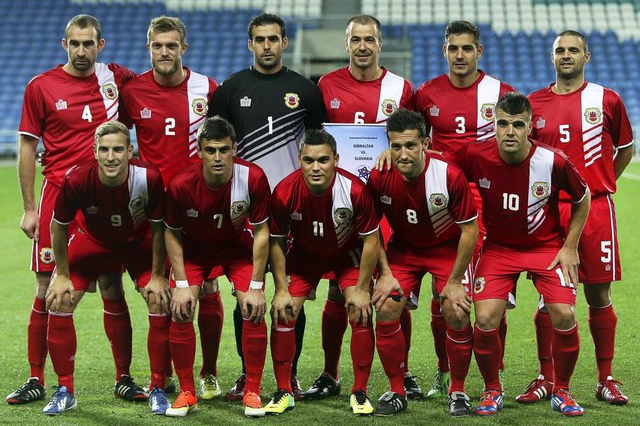 Drużyna piłkarska reprezentacji Gibraltaru / LUIS FORRA   (PAP/EPA) /PAP/EPA